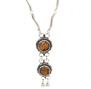 Vintage Natural Amber Stone Necklace - Natural Amber Jewellery